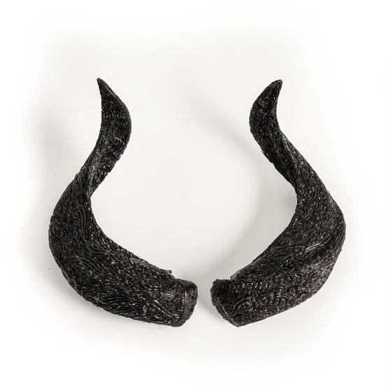 Carved Horns Ram Skull Black Boho Ram Skull Skull Carving Skull