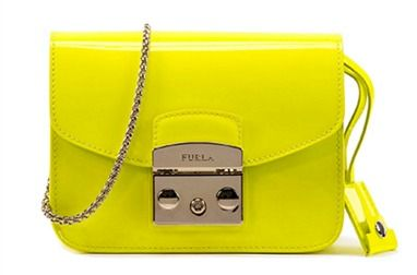 Furla's Metropolis mini bag in neon yellow