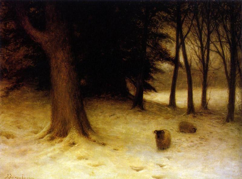 A Winter Evening by Joseph Farquharson :: artmagick.com