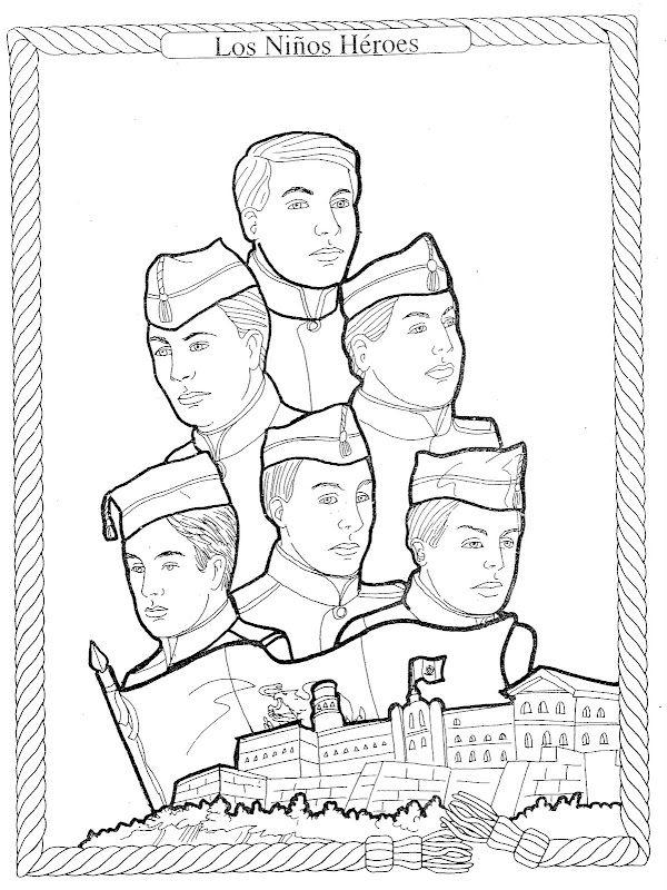 En Esta Seccion Encontraras Diferentes Tipos De Imagenes Para Colorear Que Recopilo De Ninos Heroes De Chapultepec Los Ninos Heroes Ninos Heroes Para Colorear