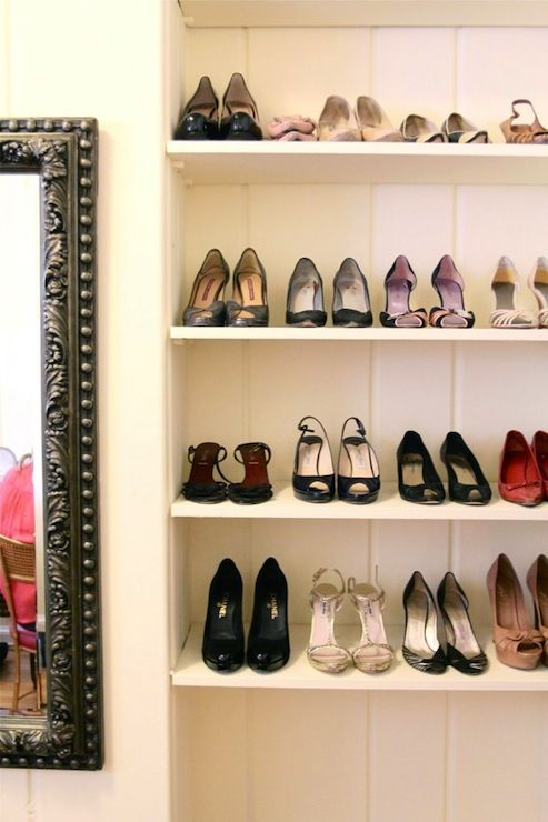 Shoe Shelves . . Put Up One Or Two Shelves On Closet Wall (walk