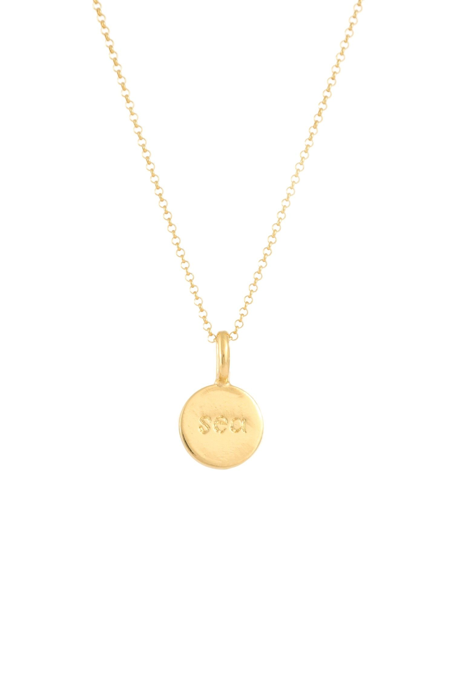 MOANINA SEA Necklace 925 Sterling Silver Gold Plated | Sea Kette Sterling Silber Vergoldet ♡