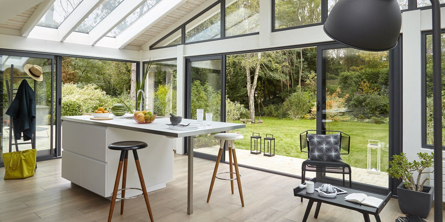 Choisir le vitrage d'une véranda | Extension maison, Veranda cuisine, Veranda