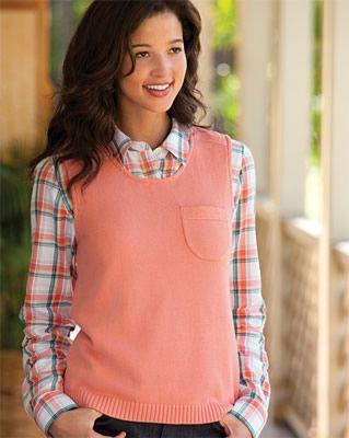 Sweater Vest for Women / Scoopneck Sweater Vest with Pocket ...