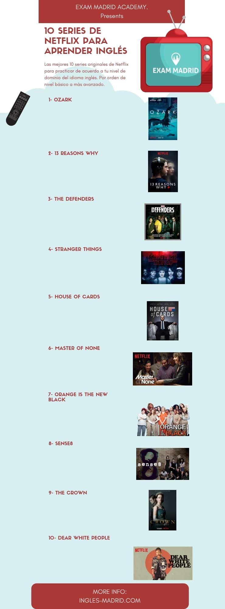 10 Series De Netflix Para Aprender Inglés 10seriesdenetflixaprenderingles 10mejoreseriesdeingle Series Para Aprender Ingles Aprender Inglés Series De Netflix