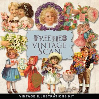 Freebies Vintage Romantic Vignettes