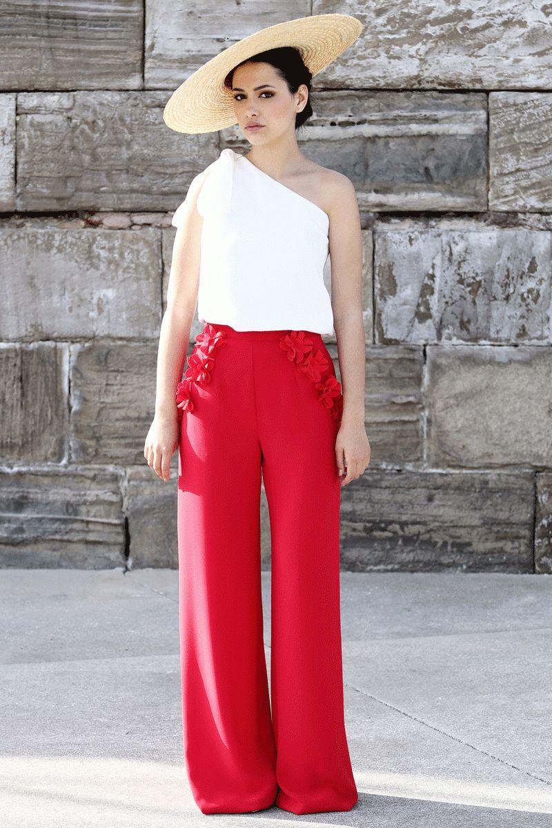 De Related Verano Palazzo Primavera 2016 Vestidos Pantalones Vestir Rojos Image UEnE8qxf