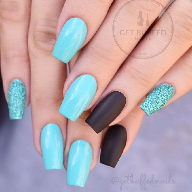35 Outstanding Short Coffin Nails Design Ideas For All Tastes In 2020 Short Coffin Nails Turquoise Nails Short Coffin Nails Designs