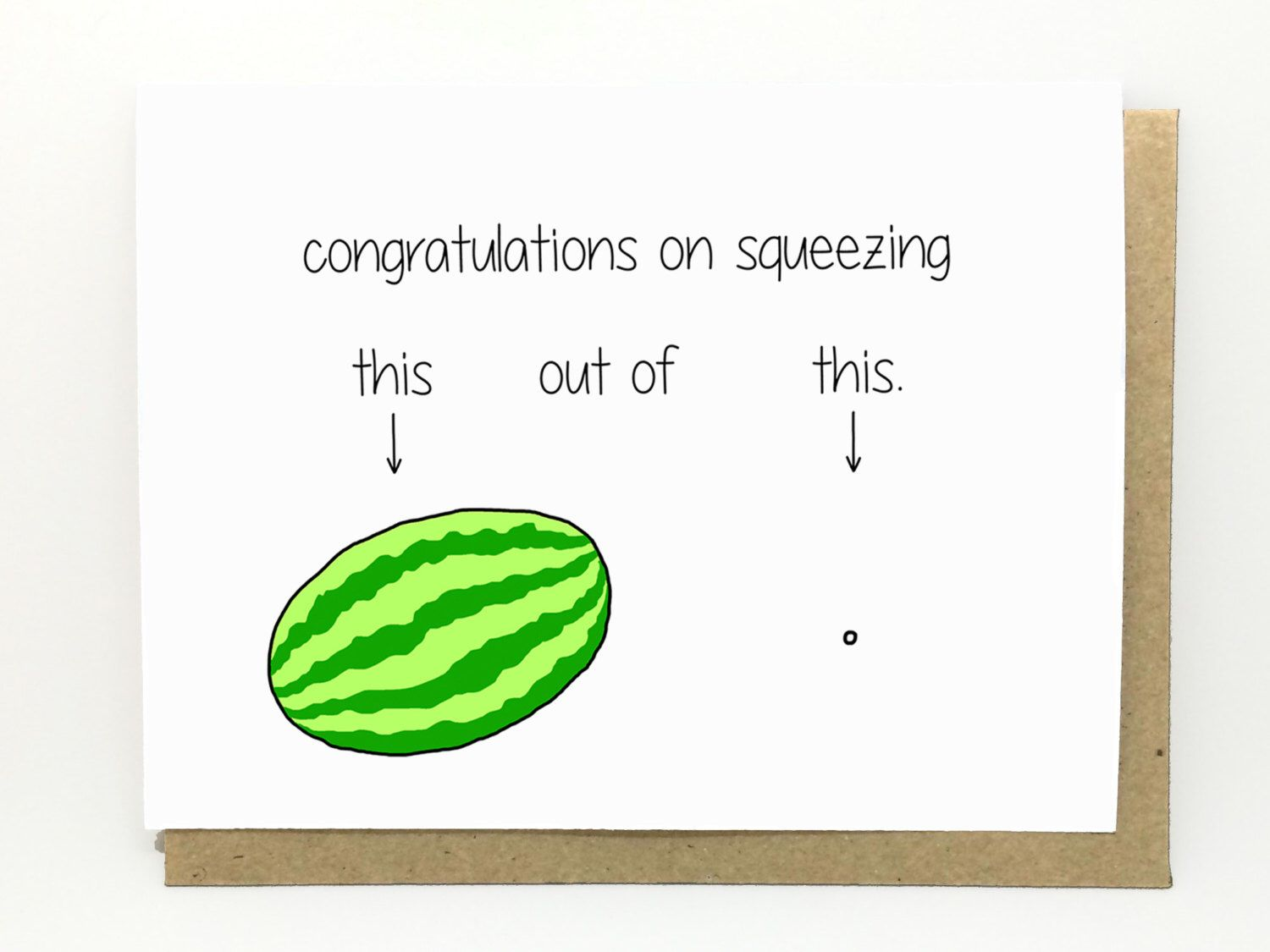 Funny new baby card new baby card congratulations card funny new baby card watermelon birth congratulations new baby by cheekykumquat on kristyandbryce Images
