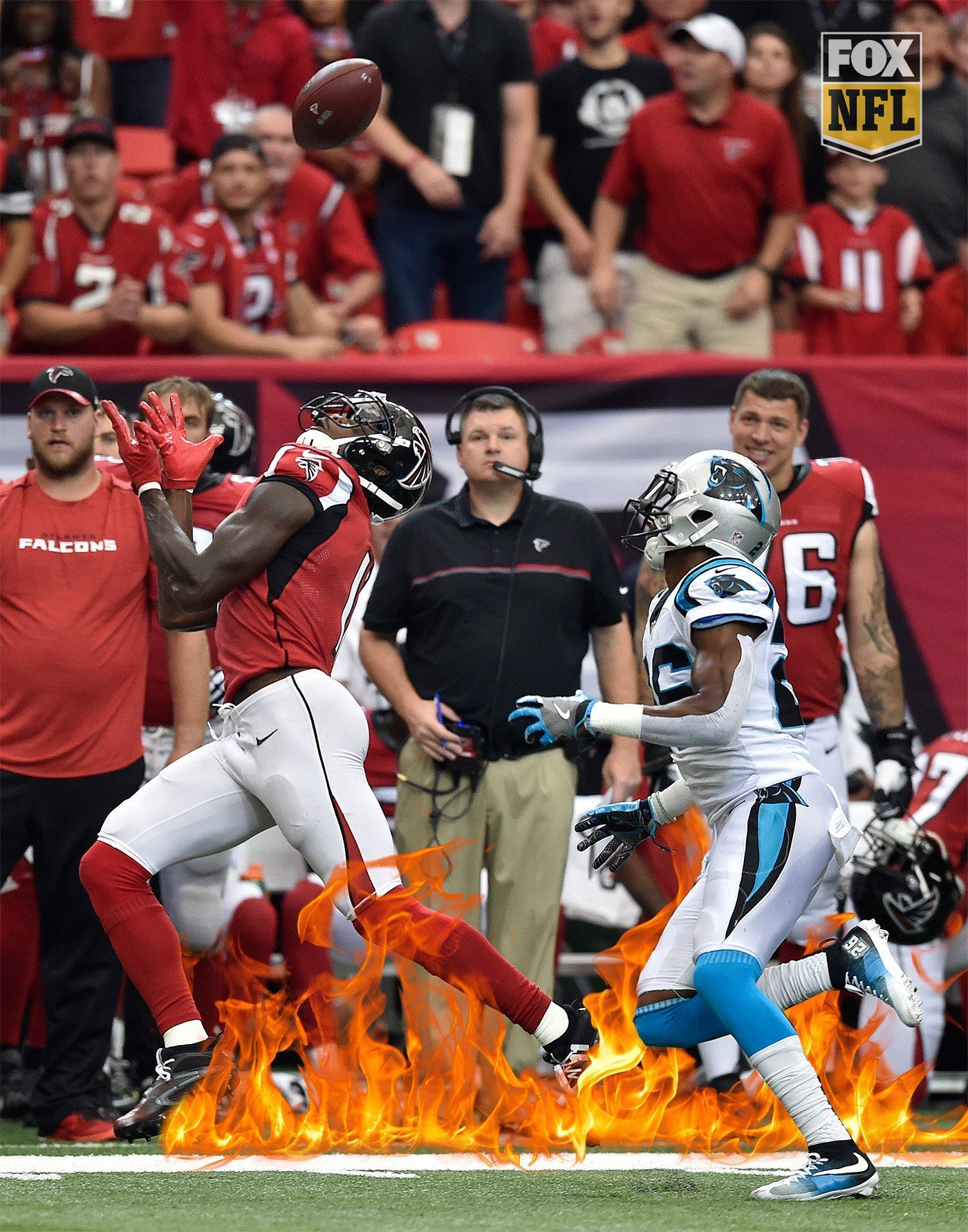 300 Yards For Julio Jones Atlanta Falcons Defeat The Carolina Panthers 48 33 Phillies Philadelphia Phillies Miami Marlins