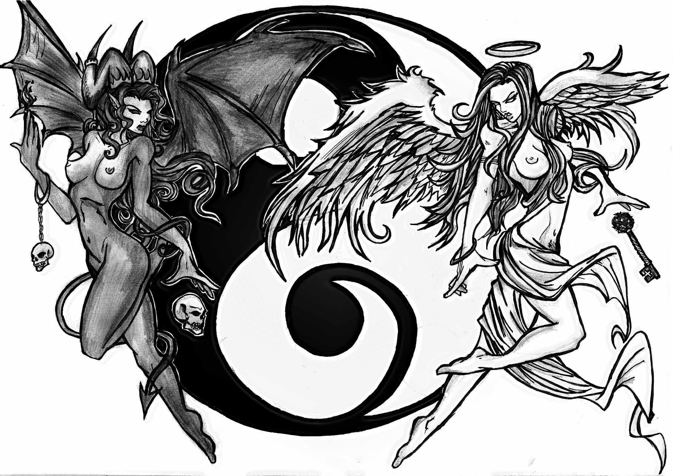 Ying Yang Tattoo   Stuff   Pinterest   Aufsatz, Kunst und Dunkel