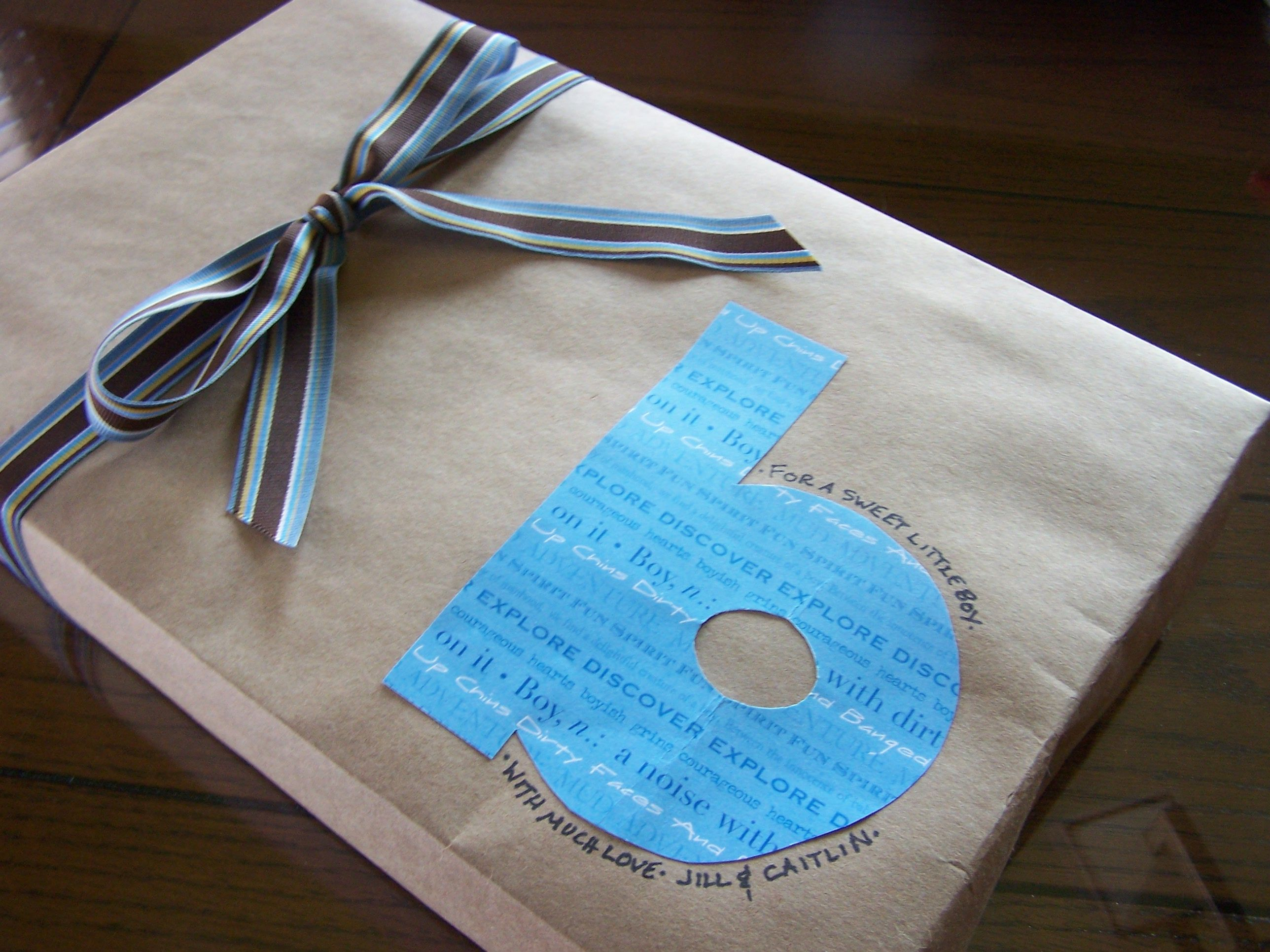 Easy Quot Green Quot Gift Wrap For A Baby Shower Brown Kraft