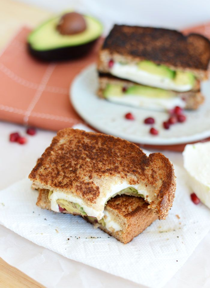Avocado Pomegranate Grilled Cheese by fitfoodiefind #Sandwich #Pomegranate #Avocado #Cheese