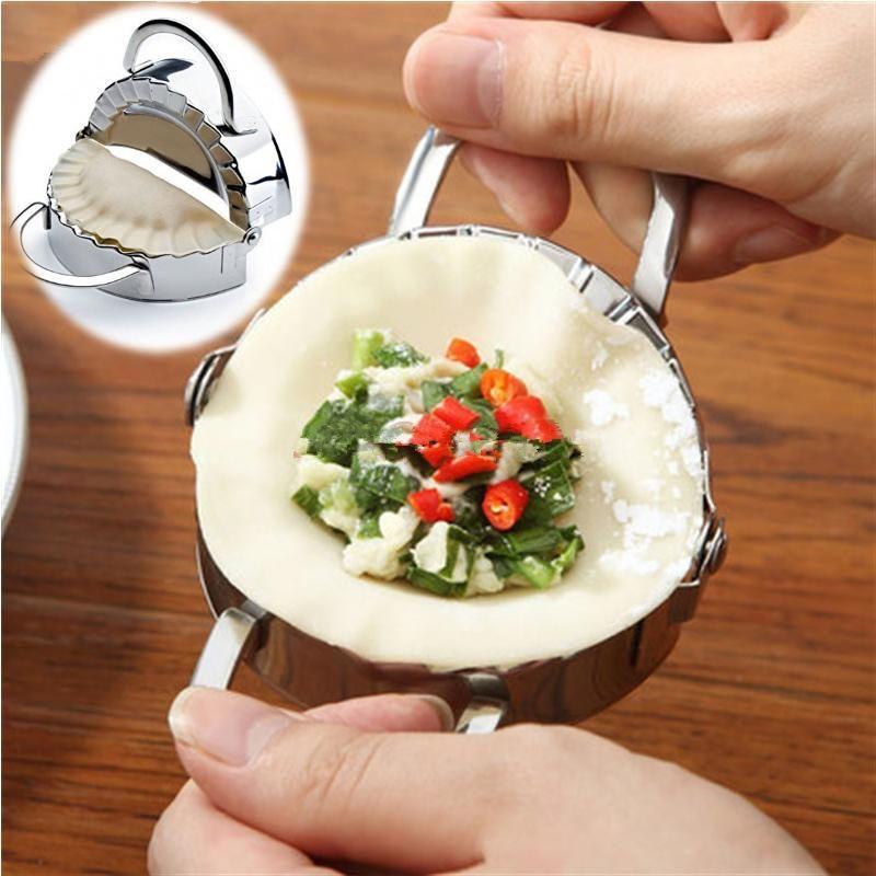 Stainless Steel Manual Dumpling Maker Wrapper Cutter Pie Ravioli Dumpling Mould