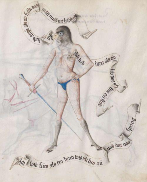 Paulus Kal: Fechtbuch, gewidmet dem Pfalzgrafen Ludwig - BSB Cgm 1507, [S.l.] Bayern, second half 15th century (not after 1479)