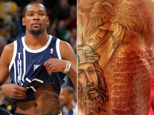 Kevin Durant's giant back tattoo is finished, may include ...