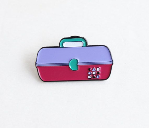 1.25 soft enamel lapel pin inspired by Caboodles -single post back -back reads…