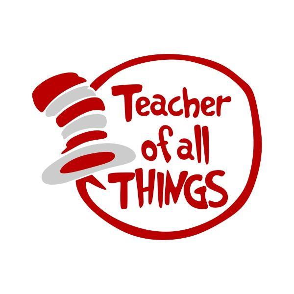 Teacher Cuttable Design Cut File Vector Clipart Digital