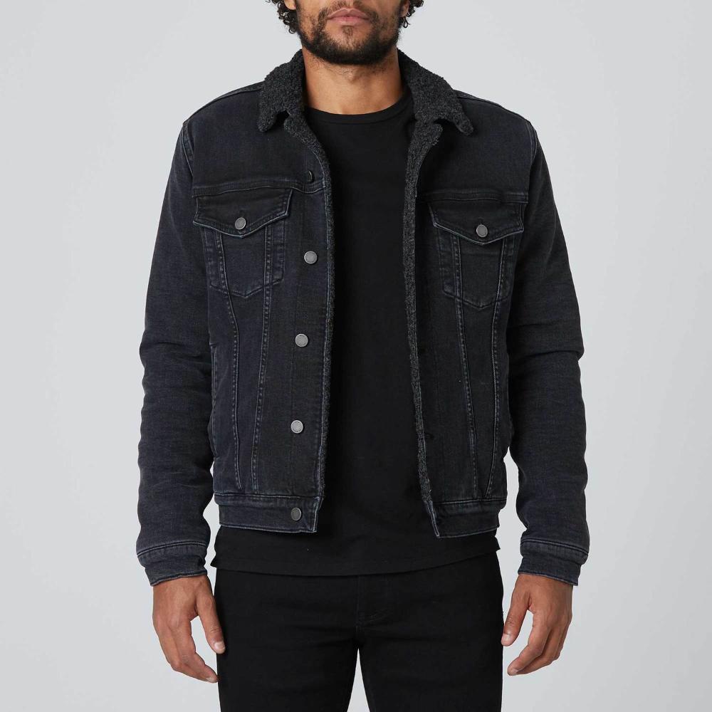 Black Denim Jacket Mens Mens Sherpa Denim Jacket In Black 140 Dstld Eonline2021 Com In 2021 Denim Jacket Men Men Fashion Casual Outfits Denim Jacket [ 1000 x 1000 Pixel ]