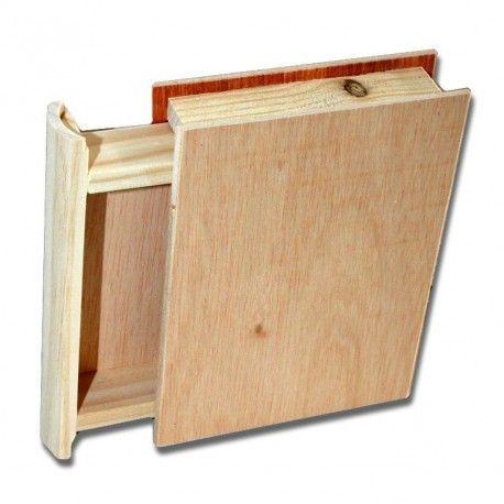 Caja libro decorar estanter a caja de madera y papel de - Contrachapado de madera ...