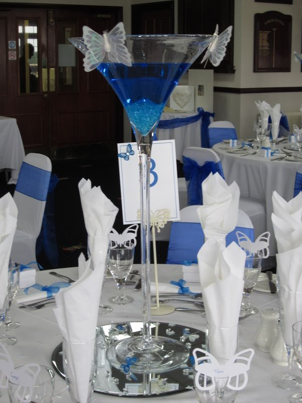 Beautiful Martini Glass Centrepiece Manchester