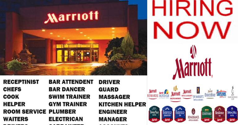 Job Vacancies At Marriott International Hotels Toronto Marriott International International Hotels Marriott