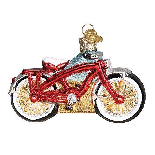 Old World Christmas Cruiser Bike Glass Blown Ornament Christmas