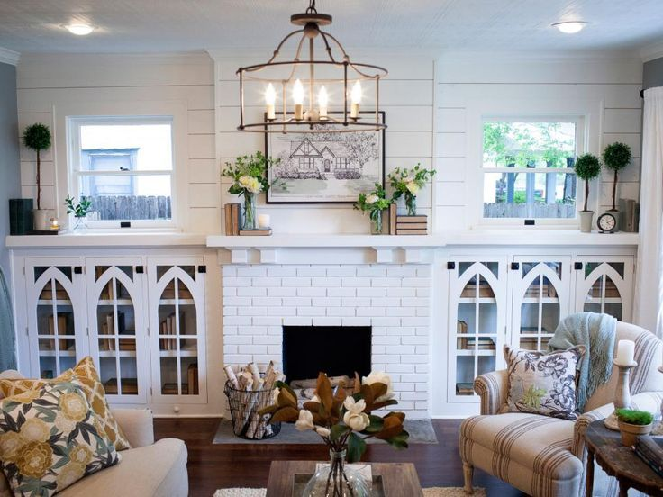Farmhouse Shelves Living Room Chip And Joanna Gaines