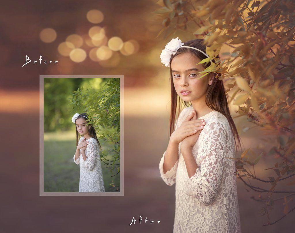 Обработка фото в теплых тонах отлично развит