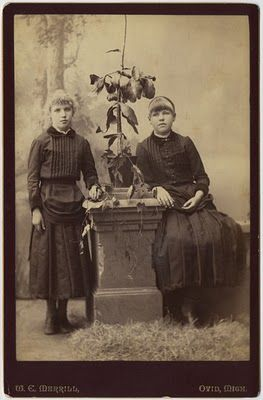 Victorian Children in mourning dresses