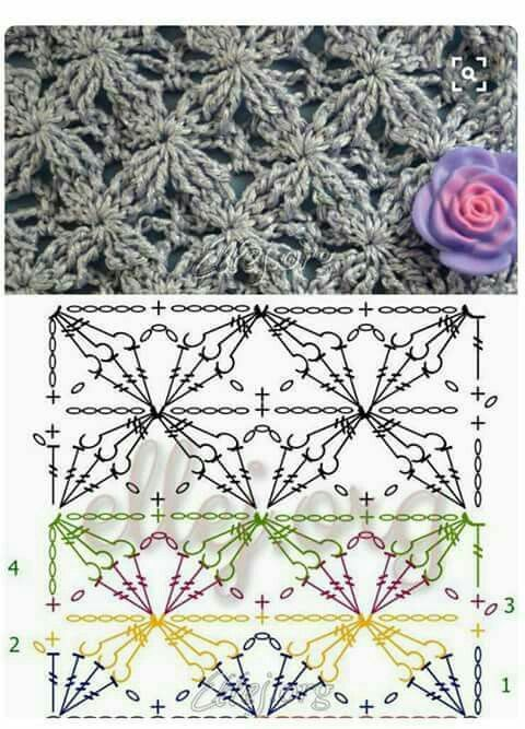 Punto flor crochet | vestidos tejidos | Pinterest | Croché ...