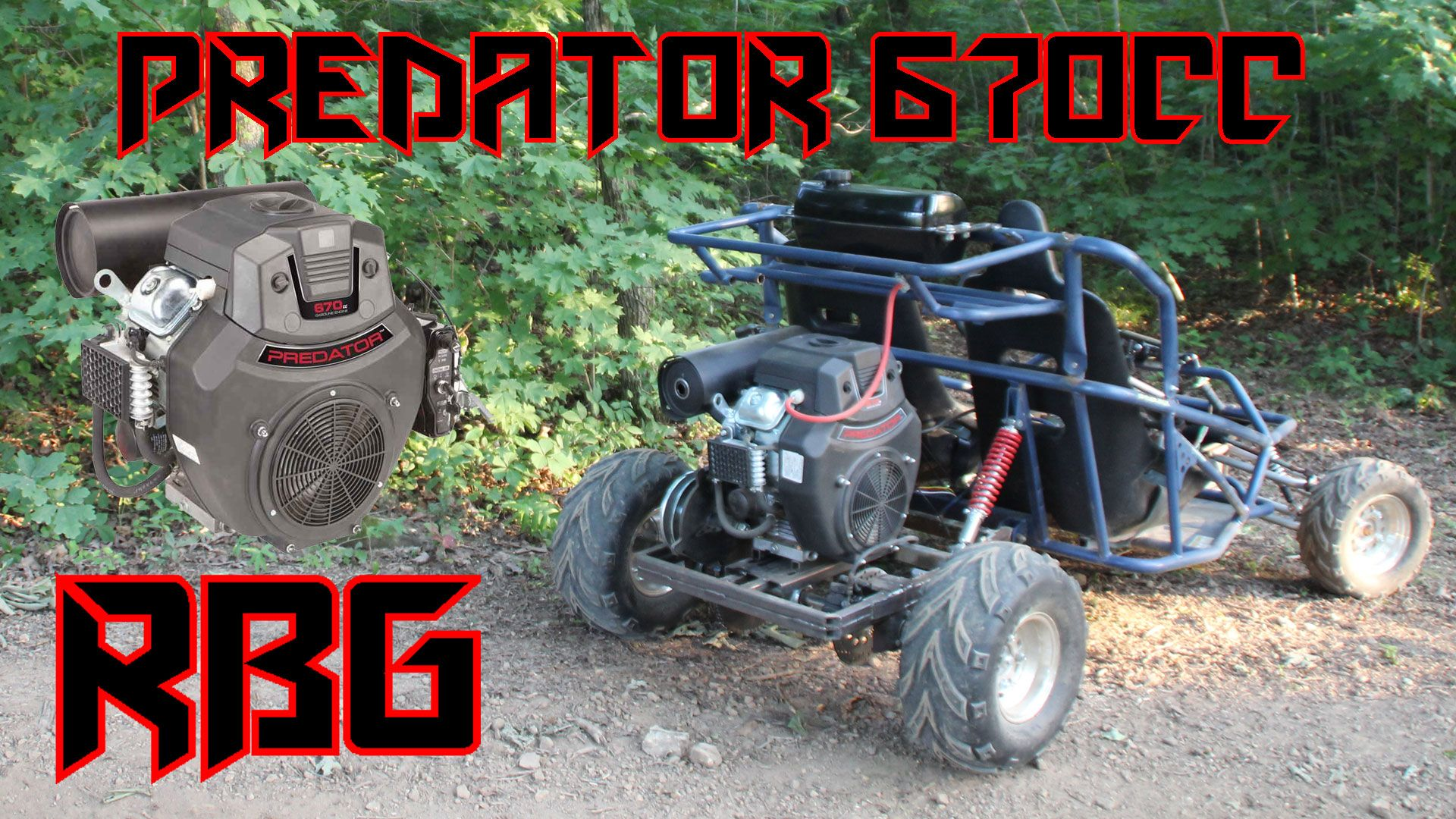 Yerf Dog off road kart with 670cc predator takes its first
