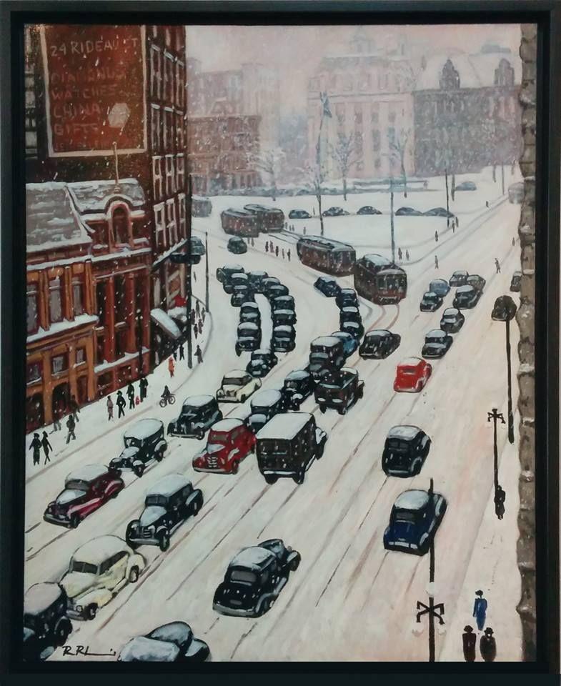 """Wellington in Snow"" Street scenes"
