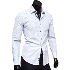 7c80496347e Рубашка Venturo приталенная цвет белый в полоску