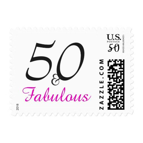 50 Fab Summer Finds Under 50: Typography 50th Birthday Postage