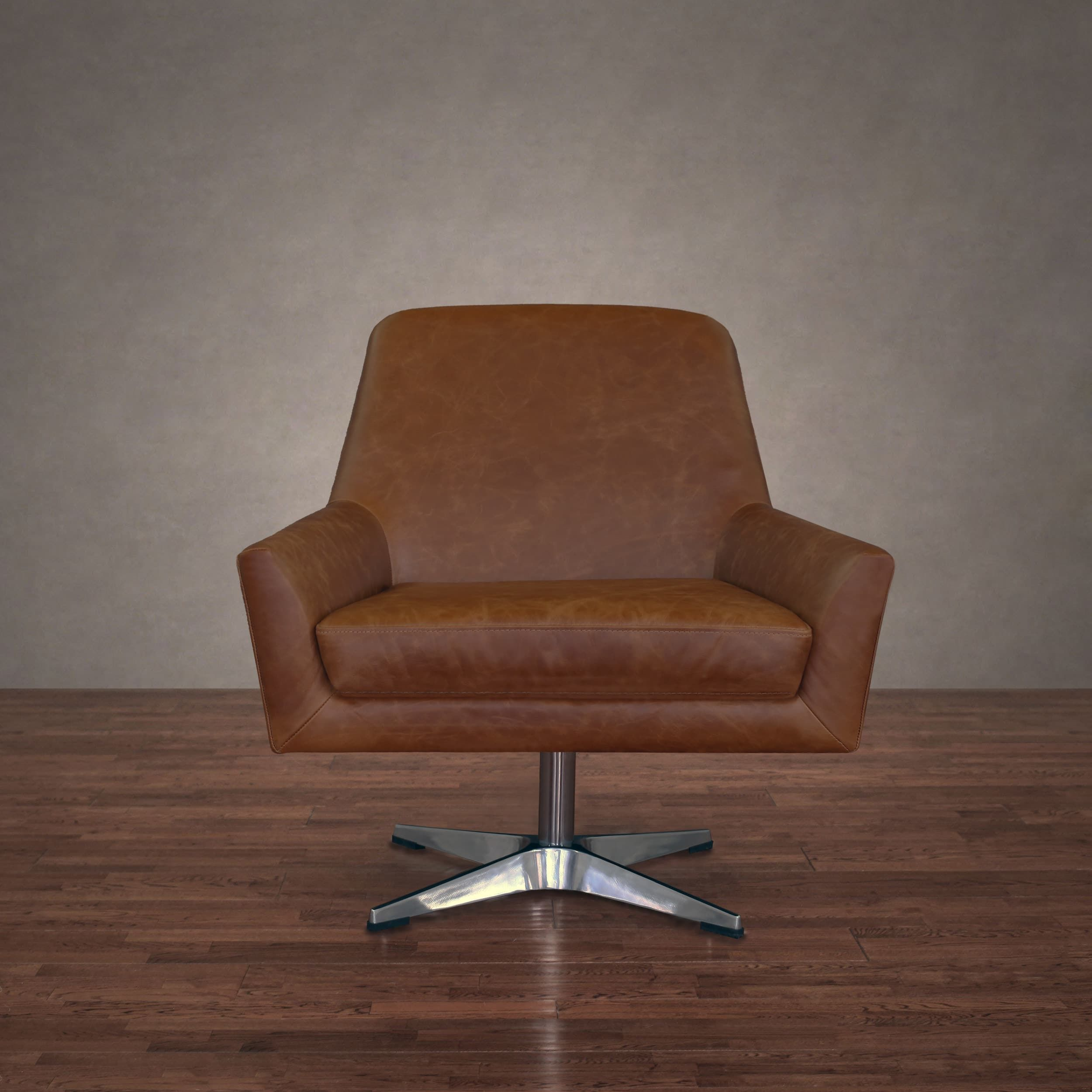 Excellent Lisbon Saddle Leather Swivel Chair Products Leather Caraccident5 Cool Chair Designs And Ideas Caraccident5Info