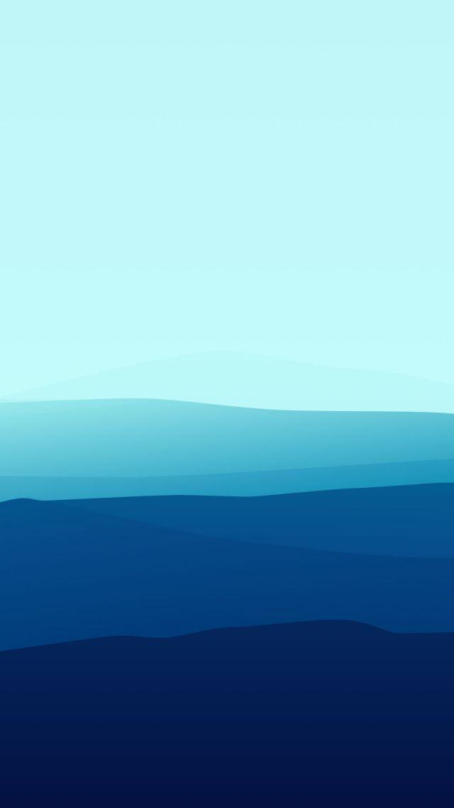 Wallpaper landscape, flat, 4k, 5k, fog, iphone wallpaper, forest, blue, OS #11927