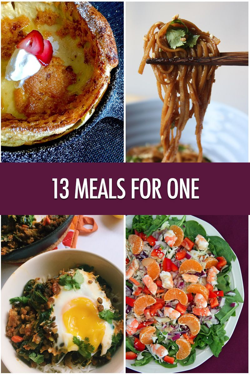 Meals For One 13 Delicious Dishes for Dining Solo is part of One person meals - 13 delicious, filling and easy meal ideas for when you're dining solo!