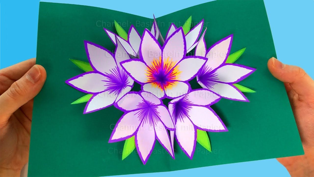 Pop up card tutorial flower easy greeting card making idea art pop up card tutorial flower easy greeting card making idea mightylinksfo