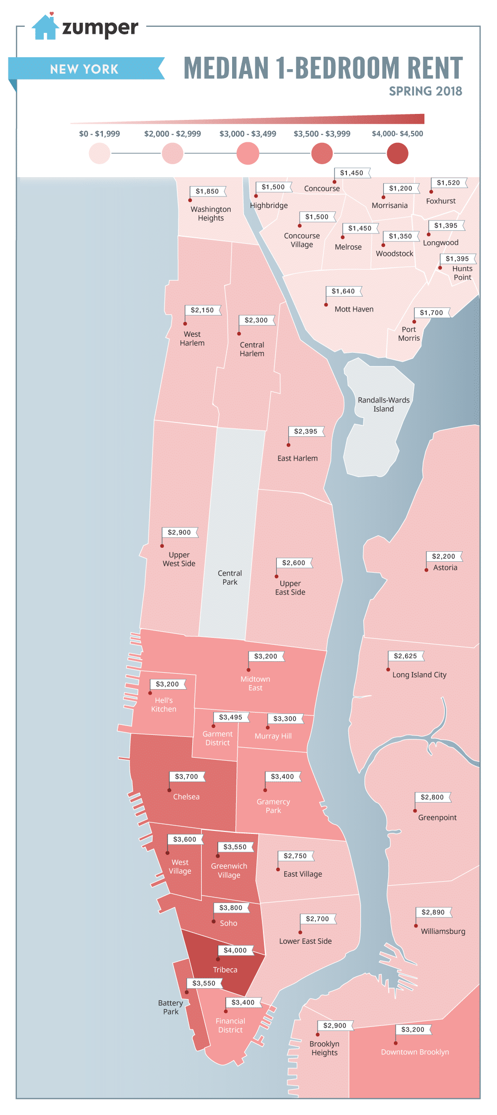 Check Out Current New York City One Bedroom Rent Prices Broken Down By Neighborhood On