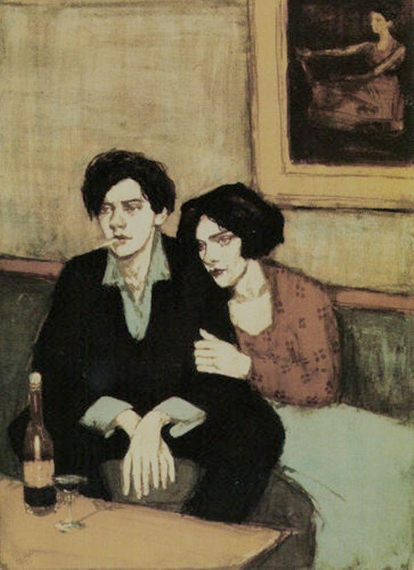 """sokolinski:  """"Alone together"""". Malcolm Liepke."""