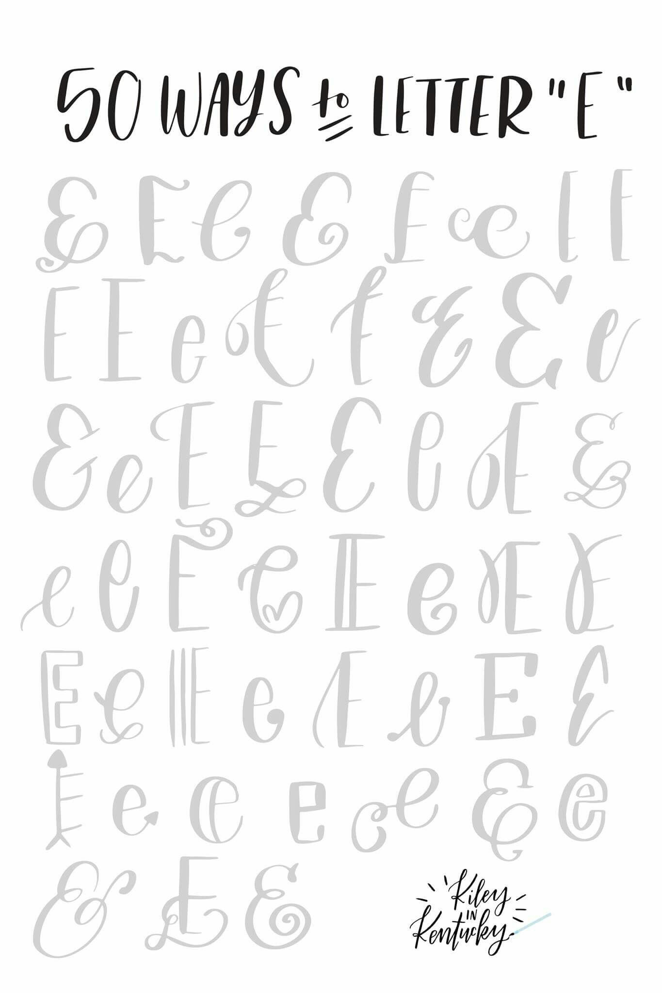 50 Ways To Letter E