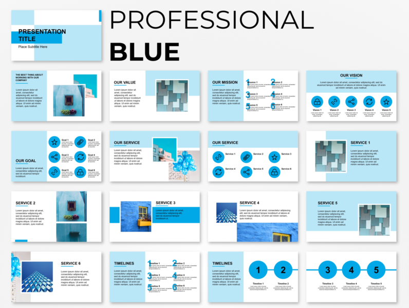 Professional Blue Powerpoint Presentation Template Powerpoint Presentation Creative Presentation Ideas Powerpoint Presentation Design