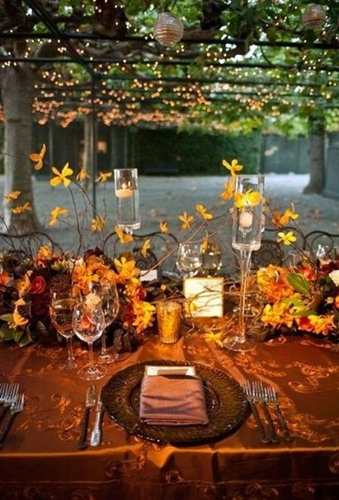 It Should Excite Create An Atmosphere And Continue Your Wedding Theme Fall Weddings Are Extremely