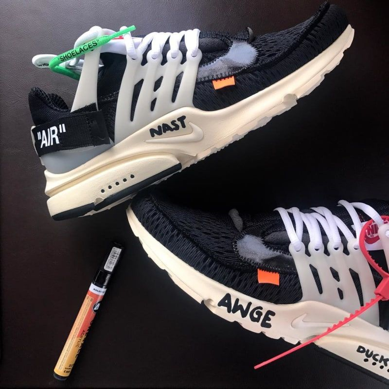 Virgil Abloh's collaboration on the Off-White x Nike Air Presto.