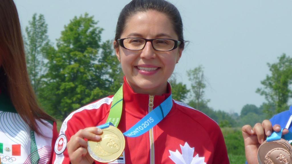 July 12 - Shooting - Results - Women's 10m Air Pistol - Final. Canada's Lynda Kiejko won the gold medal.  Kiejko will aim for a second shooting medal on Day 5.