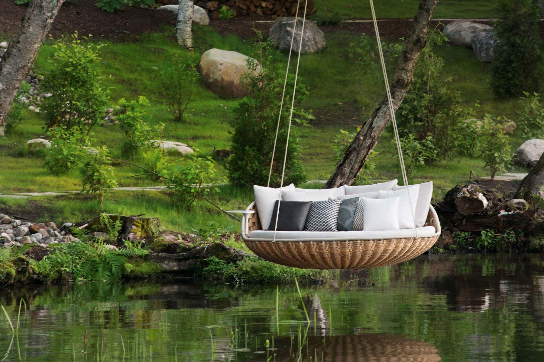 Swingrest Outdoor hanging bed, Water hammock, Dream garden