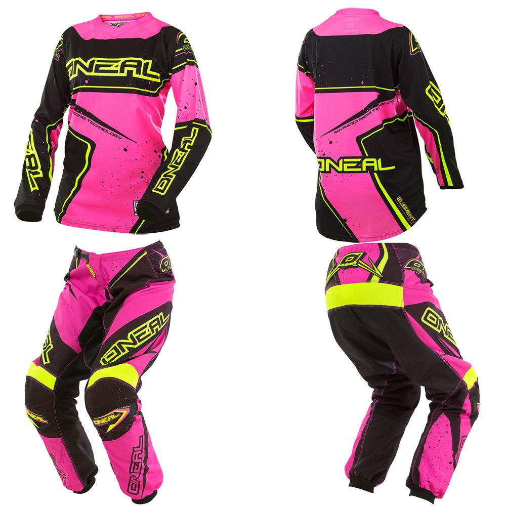 O Neal Element Pink Kids Youth Motocross Mx Dirtbike Gear Jersey