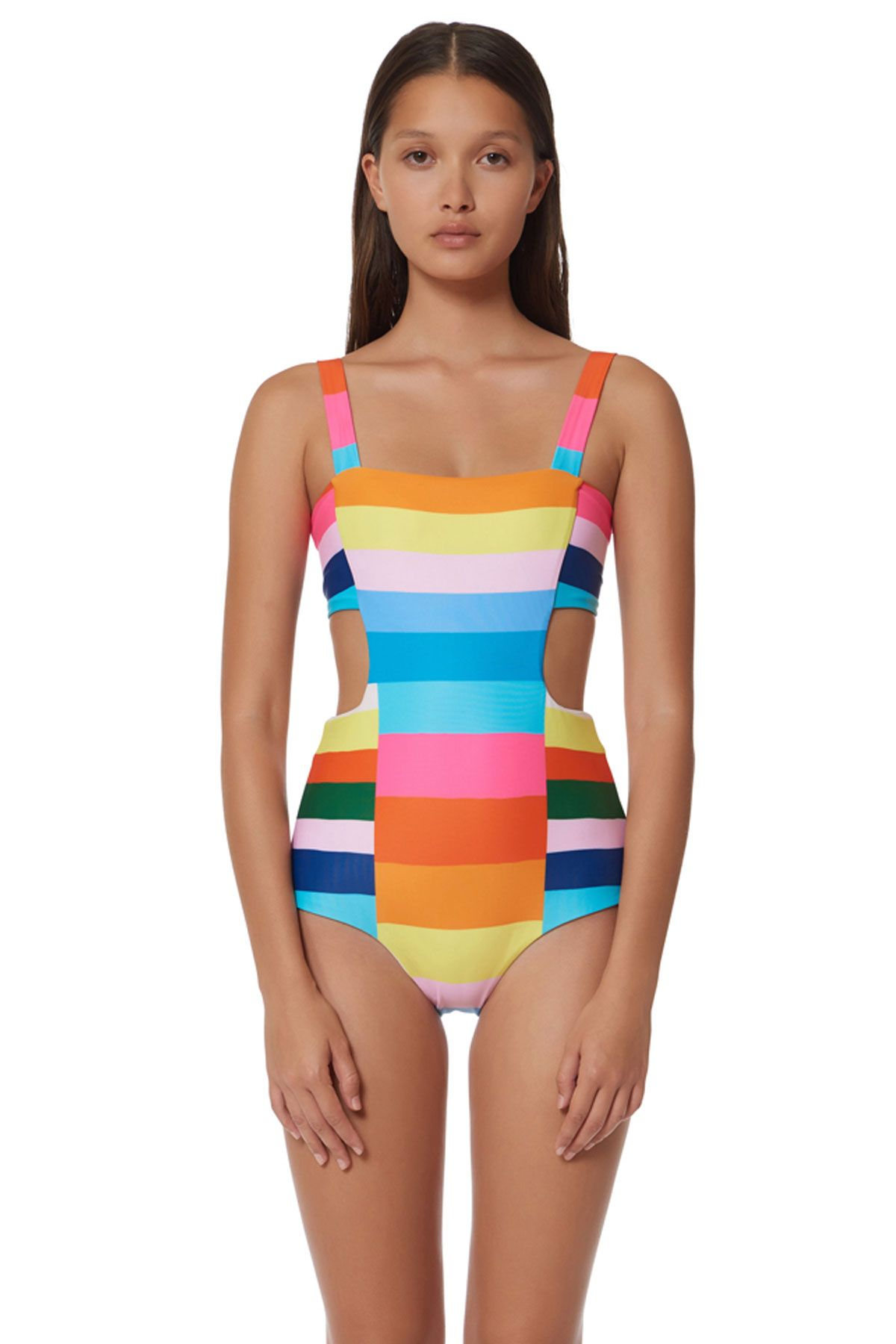23928fd3df One piece with side cutouts, ties at back. | schwim | Moda, Vestidos ...