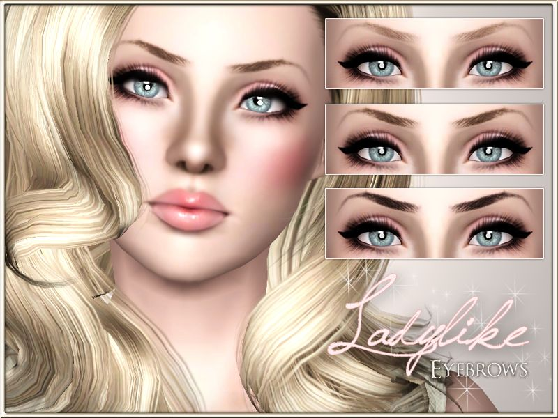 Ladylike Eyebrows by Pralinesims - The Sims 15 CC Makeup Eyebrows ...